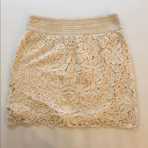 NWOT lace skirt
